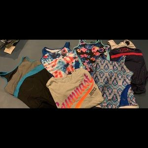 Justice 12/14 Gymnastic leotards and shirt
